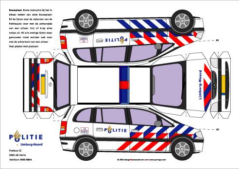 Politie Kleurplaten Van